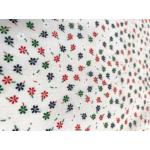 kisvirágos nyomott mintás vászon - 876 cream