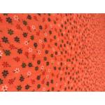 kisvirágos nyomott mintás vászon - 876 orange