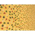 kisvirágos nyomott mintás vászon - 876 yellow