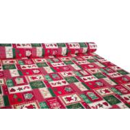 Karácsonyi méteráru 140 cm télapó