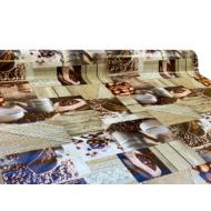 """Viaszos vászon Firenze - letörölhető asztalterítő """"kávé hangulat"""""""