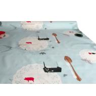 """Viaszos vászon Krakkó - letörölhető asztalterítő """"Dinner kék"""""""