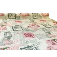 """Viaszos vászon Krakkó - letörölhető asztalterítő """"rózsás hangulat"""""""