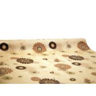 """Viaszos vászon Krakkó - letörölhető asztalterítő """"barna-bézs virág"""""""