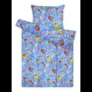 Gyermek ágynemű huzat garnitúra magasabb pamuttartalommal kék farmos
