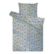 Gyermek ágynemű huzat garnitúra magasabb pamuttartalommal kék kutyás