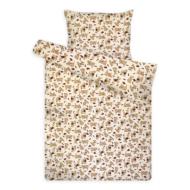 Gyermek ágynemű huzat garnitúra magasabb pamuttartalommal krém kutyás