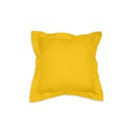 """Díszpárna angol széllel cipzáras huzattal 35x35 cm """"AL62"""" sárga"""