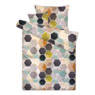 Pamut szatén ágynemű huzat garnitúra cipzárral méhsejtes mintával