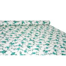Pamut vászon nyomott mintával virágos, indás 482 green