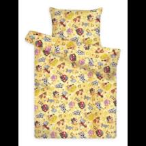 Gyermek ágynemű huzat garnitúra magasabb pamuttartalommal sárga farmos