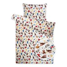 Gyerek ágynemű huzat garnitúra cicás mintával