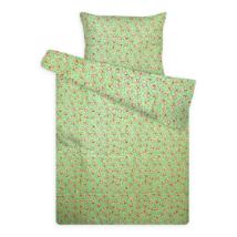 gyerek flanel ágynemű kiskutyás zöld