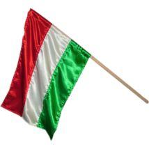Nemzeti színű zászló keményfa rúddal 50x70 cm