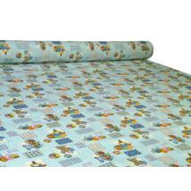 Nyomott mintás 100% pamut méteráru 450 blue