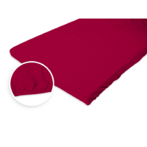 Jersey gumis lepedő 180-200x200 cm piros