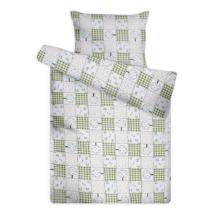 Gyerek ágynemű huzat garnitúra zöld cseresznyefás mintával