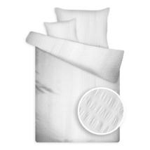 Krepp ágynemű huzat garnitúra széles kreppeléssel fehér színben