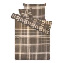 Pamut szatén ágynemű huzat garnitúra cipzárral kockás szürke
