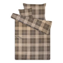 pamut szatén ágynemű kockás sateen 2 grey