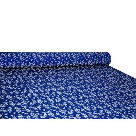 Csilla 100% pamut 270g/m2 150 cm kisvirágos kék