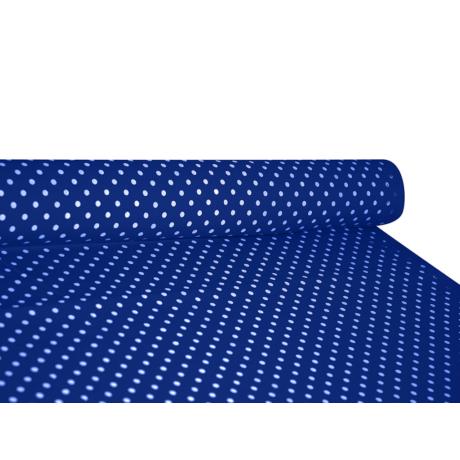 Csilla 100% pamut 270g/m2 150 cm kék pöttyös