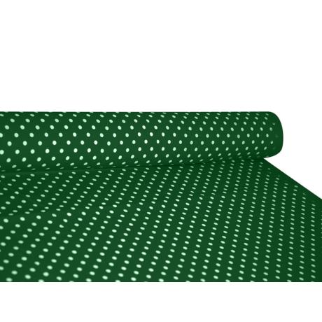 Csilla 100% pamut 270g/m2 150 cm zöld pöttyös