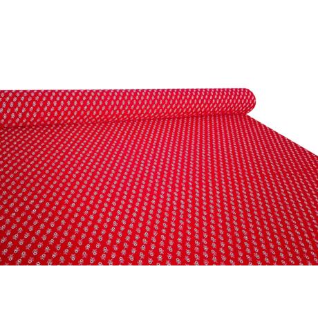 Csilla 100% pamut 270g/m2 150 cm piros virágos