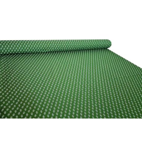 Csilla 100% pamut 270g/m2 150 cm zöld kis virágos