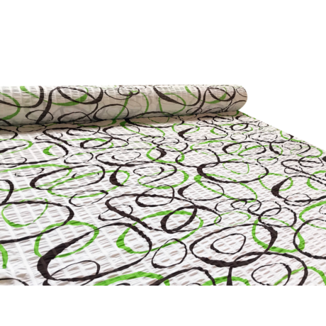 Öko krepp 145 cm karikás 1137 zöld