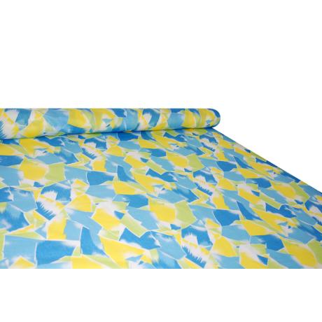 Nyomott mintás pamut-poliészter méteráru - 1093 blue