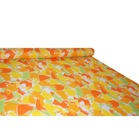 Nyomott mintás pamut-poliészter méteráru - 1093 orange