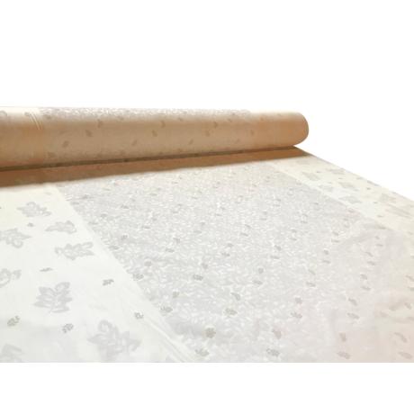 pamut-szatén méteráru 145 cm sateen leveles pigment mintás 1136