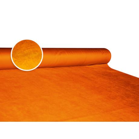 Szarvasbőr (velúr) hatású méteráru - orange