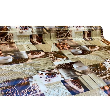 Viaszos vászon Firenze kávé hangulat 9081