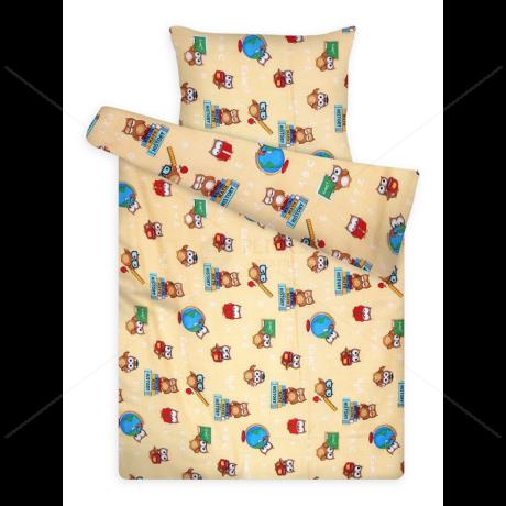 Gyerek ágynemű huzat garnitúra pc 1081 yellow bagoly