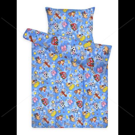 Gyerek ágynemű huzat garnitúra pc 880 blue farmos