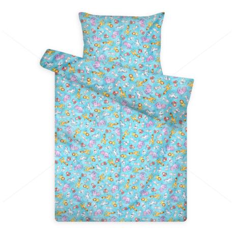 gyerek ágynemű huzat 1082 blue zsiráf