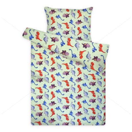 Gyerek ágynemű huzat garnitúra pc 1120 green dinó
