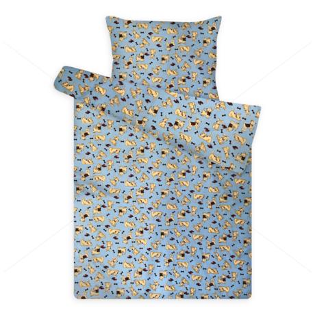 Gyerek ágynemű huzat garnitúra pc 1121 blue kutyusos