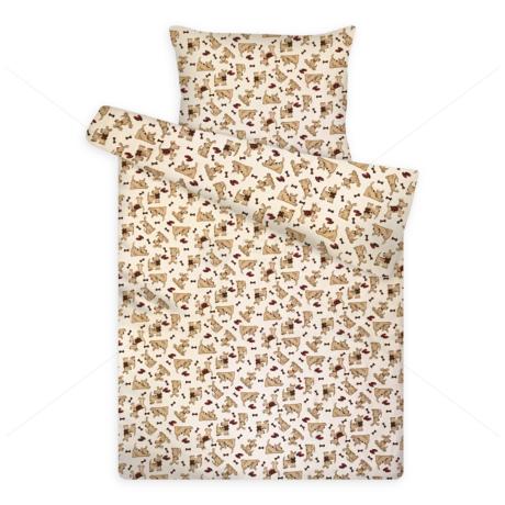 Gyerek ágynemű huzat garnitúra pc 1121 cream kutyusos