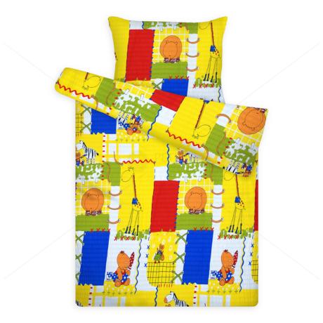 gyerek krepp ágynemű huzat 383 zsiráfos