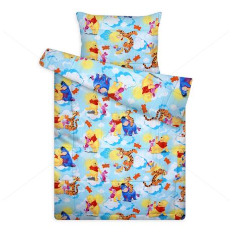 Disney ágynemű huzat garnitúra kék micimackó