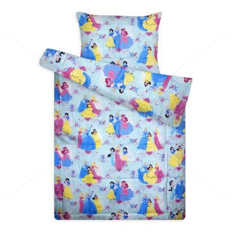 Disney ágynemű huzat garnitúra kék Hercegnők
