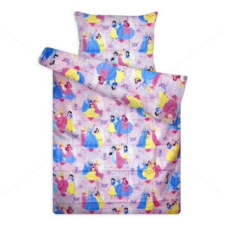 Disney ágynemű huzat garnitúra rózsaszín Hercegnő