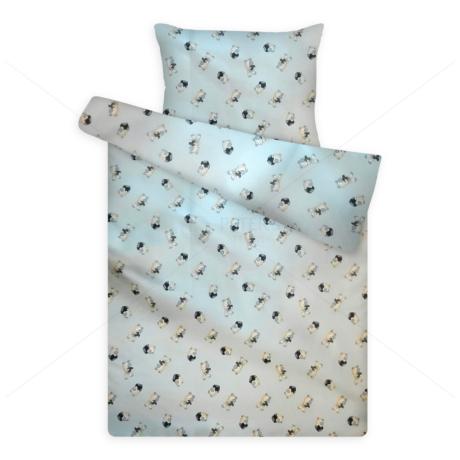 gyerek pamut ágynemű 1050blue macis