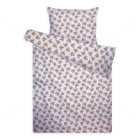gyerek pamut ágynemű 1070blue majmos