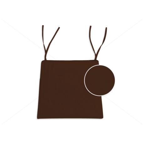 Polly trapéz ülőpárna megkötővel csoki barna