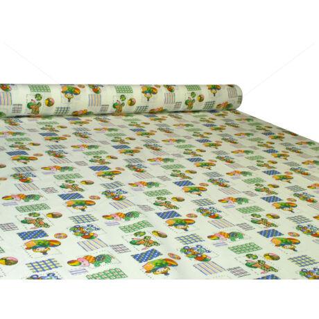 Nyomott mintás 100% pamut méteráru 450 white