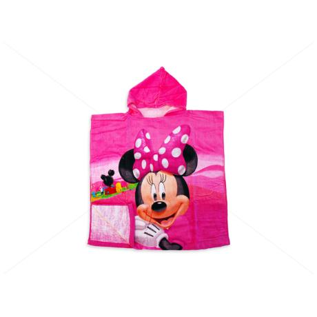 Disney kapucnis poncsó 60x120 cm Minnie egér